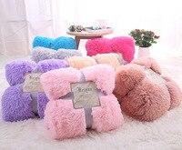 Peluches en peluche polaire couvertures pour lit doux jeter couverture climatisation Manta solide couvre-lits Cobertor fille mariage 48