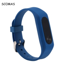 SCOMAS Wristband band strap with metal Buckle for XIAOMI MIBAND 2 Bracelet replacement strap for MI BAND 2 Wearable Accessories