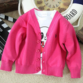 Hot Kids clothes Boys cardigan Spring candy-colored 100% cotton baby Girls in Polos single-breasted jacket