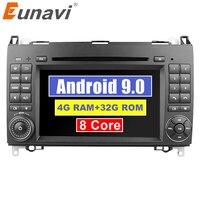 Eunavi 2 Din Android 9,0 Octa 8 core dvd плеер для автомобиля для Benz Sprinter Vito W169 W245 W469 W639 B200 с радио, GPS, WiFi, 4G, Оперативная память 4 Гб