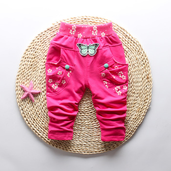 Butterfly Patterned Pants for Baby Girl 4