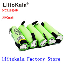 Liitokala 100% New Original NCR18650B 18650 3.7v 3400mah Lithium Rechargeable Battery Welding Nickel Sheet batteries