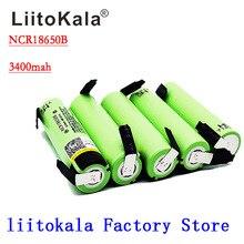 Liitokala 100% Nieuwe Originele NCR18650B 18650 3.7 V 3400 Mah Lithium Oplaadbare Batterij Lassen Nikkel Vel Batterijen