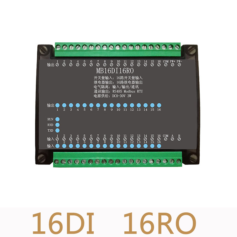 16DI 16RO 16 Road digital isolation input 16 Road relay output module data acquisition control Board