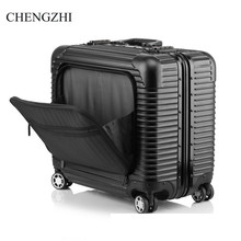 Suitcase Trolley Rolling-Luggage Travel-Bag Luggage-18inch Aluminum-Frame Wheels Spinner