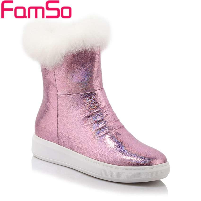 Free shipping 2016 new Fashion font b Women b font Boots Designer Silver black Real Fur