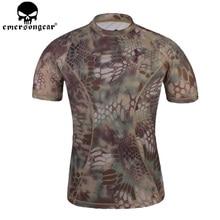 Нерегулярный Тактический камуфляжная футболка камуфляжная рубашка для бега уличный Спорт Охота страйкбол дышащая рубашка с коротким рукавом EM8605
