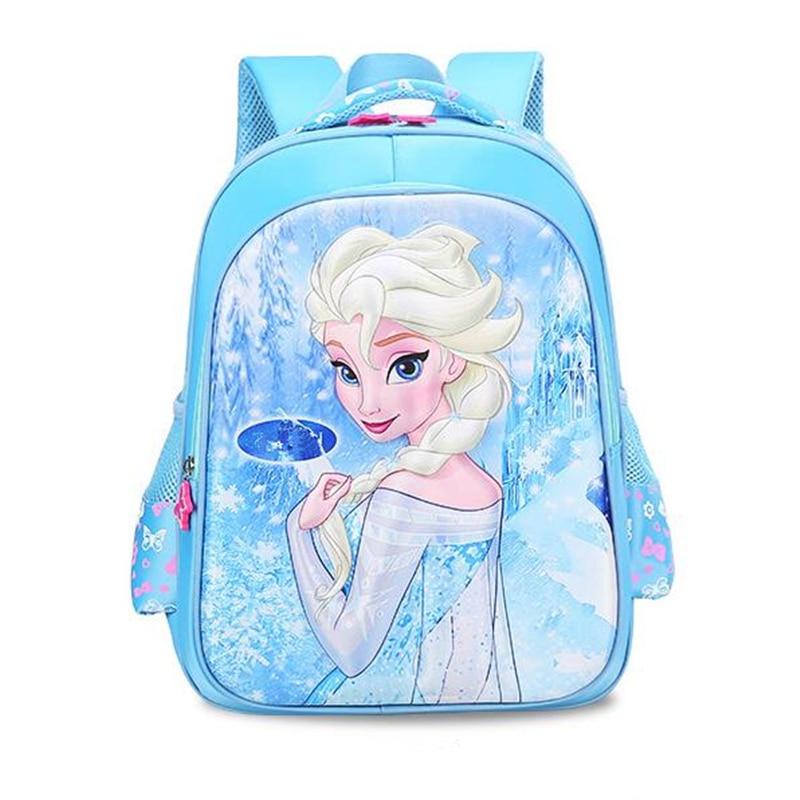 2018 New Girls School Bags Princess Elsa Schoolbags Children Backpack kids Cartoon Primary Bookbag Kids Mochila Infantil