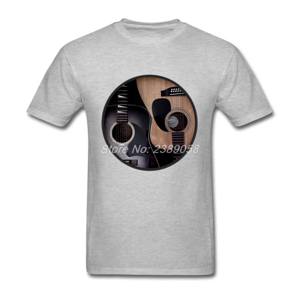 2aae90d49e88 2019 New Arrival Men t-shirt Slim Fit Acoustic Guitars T Shirt Printing Yin  Yang t shirt Men Camisetas