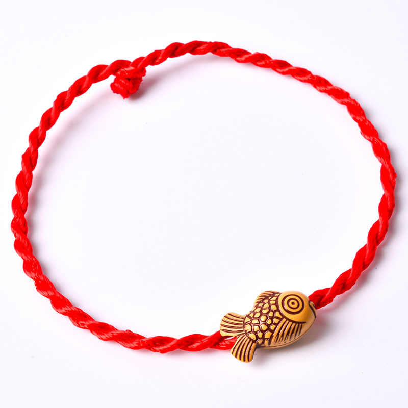 Fashion Red String Bracelet Braided Rope Hamsa Evil Eye Bracelets For Women Girls Fish Heart Star of David Charm Hand Jewelry