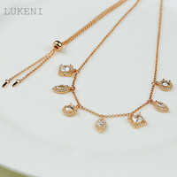 Free Shipping New Arrival 925 Sterling Silver Inlay Zircon Fashionable Tassel Necklaces For Women Jewelry Accessories