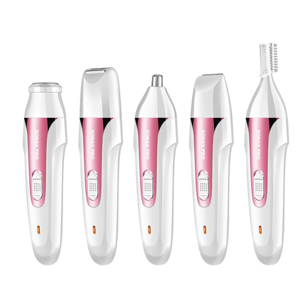 5-In-1 Women Hair Removal Epilator Shaver USB Rechargeable Electric Shaving Machine Mini Trimmer Razor for Eyebrow Face Underarm стоимость
