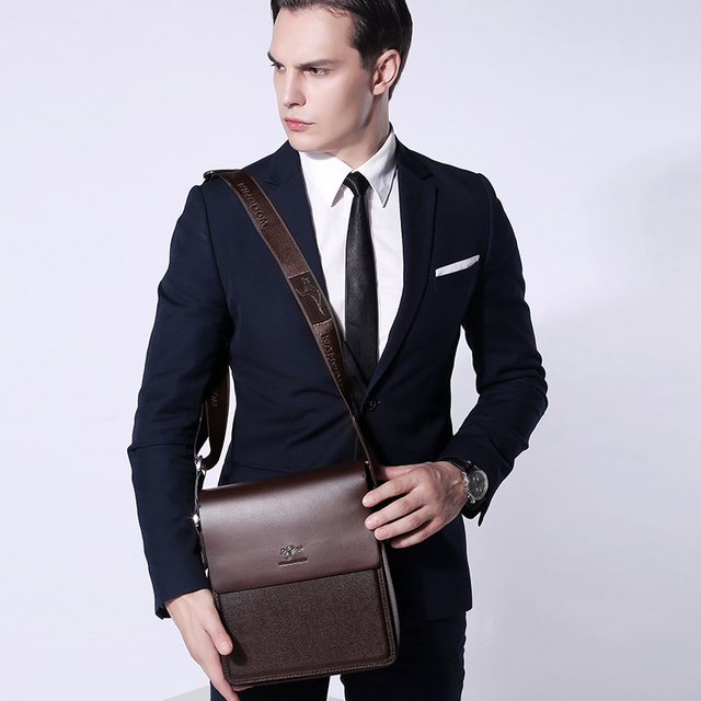 Kangaroo Kingdom Luxury Brand Men Bag Split Leather Business Casual Male Crossbody Shoulder Messenger Bags