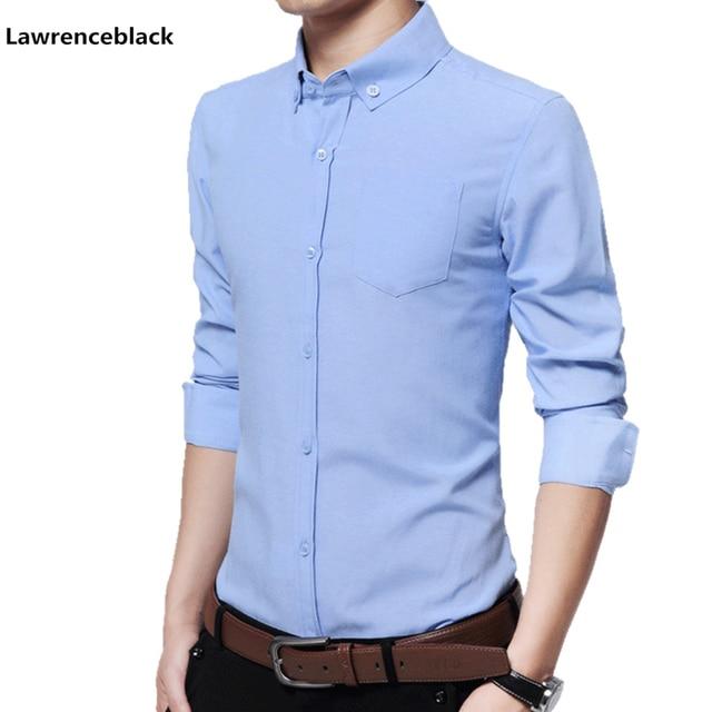 976c895afe Algodão Camisas de Trabalho de Escritório de Negócios Vestido de Camisa  Social Dos Homens Marca de