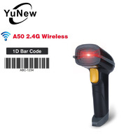 2.4G Wireless 1D Barcode 100m Portable Laser High Speed Handheld USB Scanners With Storage Funtion