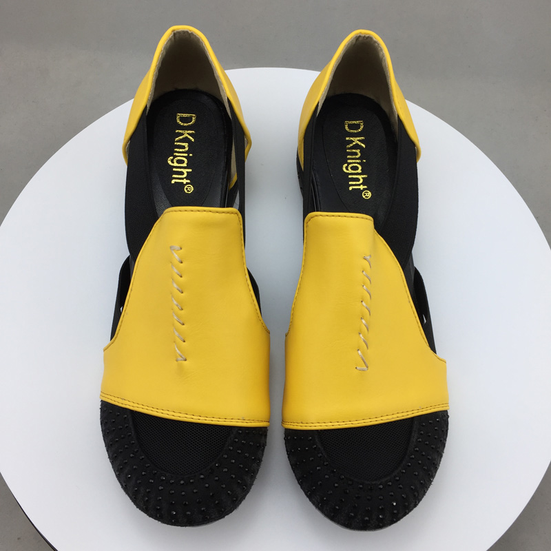 Summer Sandals Women 2018 Lady Yellow Red Shoes Woman Platform Flats Shoes Causal Rhinestone Sandals Roma Female Gladiator Shoes (18)