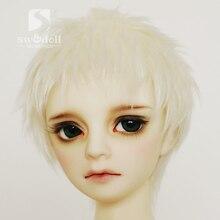 Perruque de poupée blanche riz pour AE PukiFee YOSD MSD DD BJD, 3-4 pouces 9-10cm 1/12 4-5 pouces 12cm 14cm 1/8 1/6 1/4 1/3