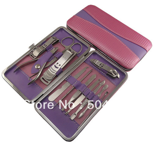 12 In 1 Womens Stainless Steel Toe Nail Clippers Set Cutter Trimmer Manicure Kit