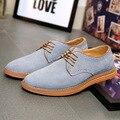 Gris Mens Suede Zapatos Oxford Zapatos Hombre Chaussure Verte Más El Tamaño de Los Hombres de Moda Zapatos Marrones 47 12