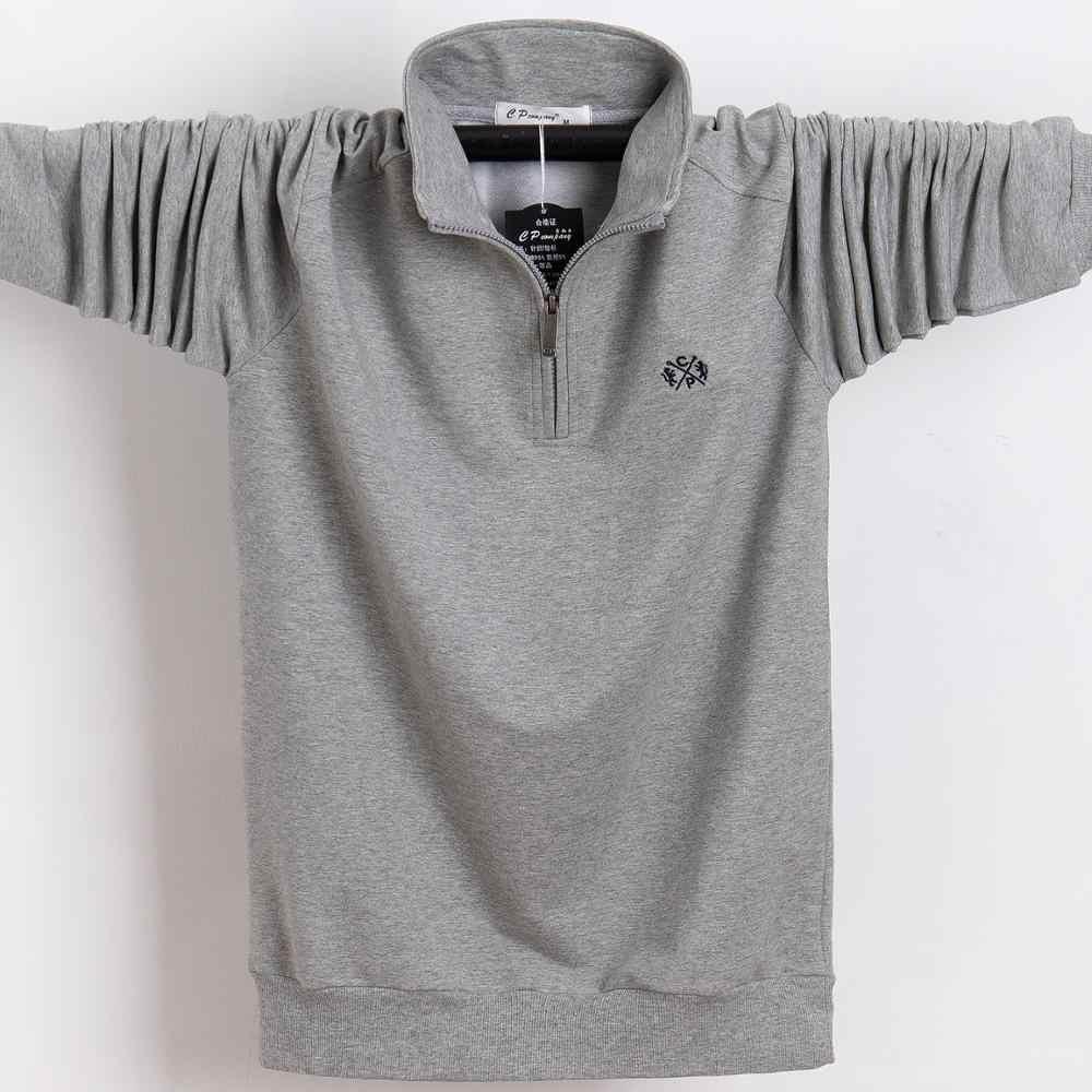 طويل كم رجل بولو حامل الصلبة طوق القطن نصف سستة Tace و القرش العلامة التجارية الرجال قميص بولو اليورو حجم 4XL 5XL 6XL 2019 قميص