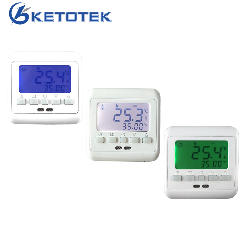 Mechanical Digital Floor Heating Thermostat Underfloor Warm Temperature Controller Weekly Programmable with LCD Backlight mechanical digital floor heating thermostat underfloor warm temperature controller weekly programmable with lcd backlight