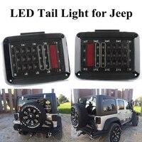 Car Styling For 07 16 Jeep Wrangler JK US Version LED Tail Lights Brake Turn Signal