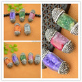 Beautiful - 10Pcs Colorful Druzy Agate Drusy Quartz Stone Pave Rhinestone Crystal Connectors Beads Jewelry Finding