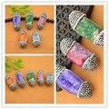 Bonito-10 Pcs Colorido Ágata Druzy Drusy Pedra de Quartzo Pave Rhinestone Cristal Conectores Beads Jewelry Finding
