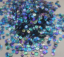 6mm 50g/lot(approx 5000pcs)) 2016 New Polychrome Flake  Cup Sequin free shipping