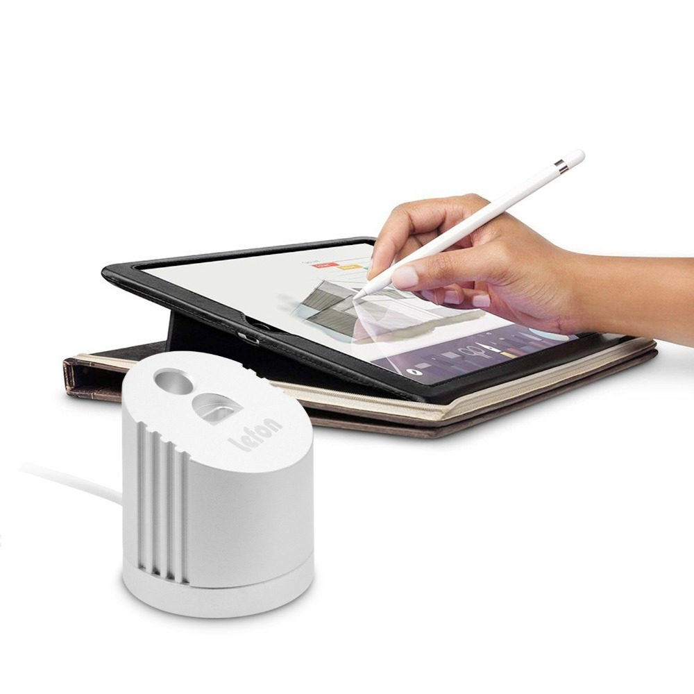 Lefon for Apple Pencil Charger Stand Holder Aluminum Alloy with USB Charging Cable Dock Station For iPad Pro Pencil in Chargers from Consumer Electronics
