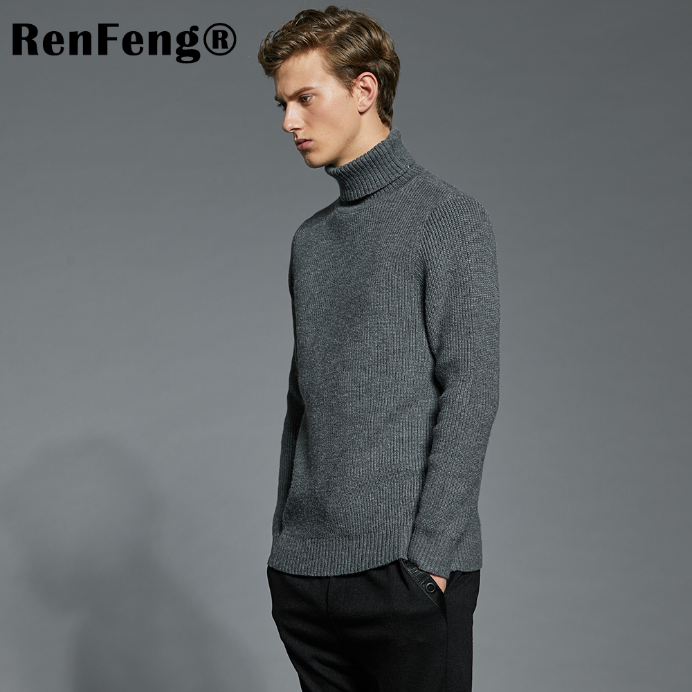 Winter Men Turtleneck Sweater Plus Size Male Casual Loose Long Sleeve Warm Sweater Korean Mens Pullover Winter Cable Knitted (10)