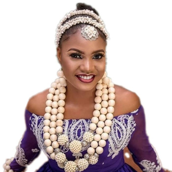 Dudo Crystal Bridal Jewelry Set Big Balls Multi Layers African Necklace Nigerian Weddings Necklace Set With Bracelet Earrings