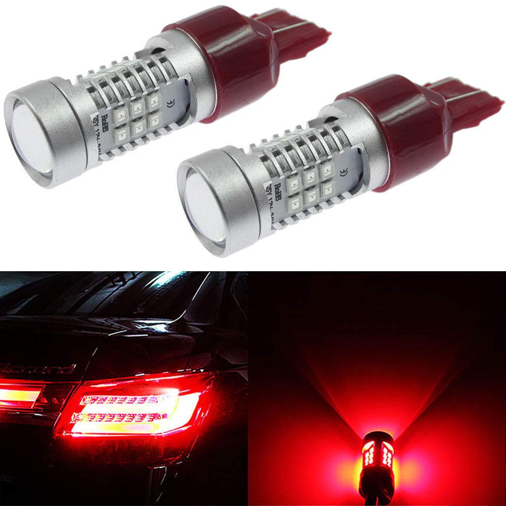 Carro Luzes Car Tail Lights 7443 <font><b>LED</b></font> Canbus Error Free Red W21/5W <font><b>T20</b></font> <font><b>LED</b></font> <font><b>Lampadas</b></font> Bulbs For Car Brake/Tail Lig Parking image