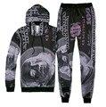 Harajuku style sweats tracksuit men women winter fashion suit 3d money pattern 100 dollar tie-dye hoody&pants 2 pieces set