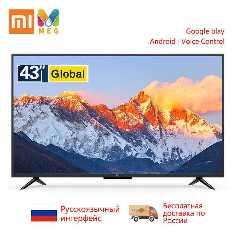 Televisie Xiao mi mi tv 4A PRO 43 Inch fhd led TV 1GB + 8 gb smart ANDROID Tv global versie | multi taal | Gift muurbeugel