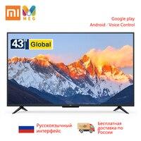 Телевизионная Xiaomi Mi tv 4A Pro 43 дюйма подсветка FHD tv 1 Гб + 8 Гб Smart android tv глобальная версия | Многоязычная | Подарочный настенный кронштейн