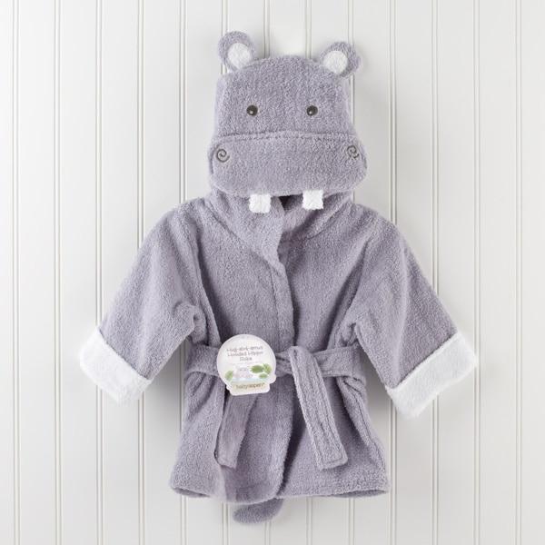 Розничная ; 16 дизайнов; детское банное полотенце с капюшоном; купальный халат с изображениями животных; детские пижамы с героями мультфильмов - Цвет: purple hippo