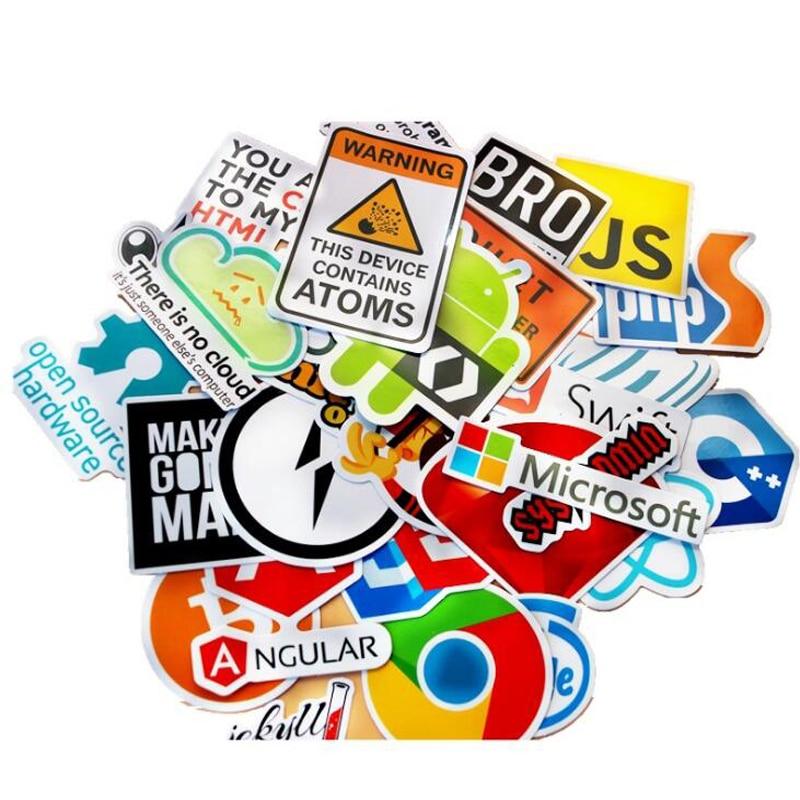 30 Pcs Java Internet JS Php Docker Bitcoin Html Cloud Programming Language APP Logo Funny Stickers for Laptop Car DIY Stickers