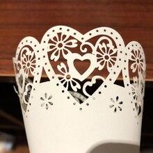 50 Uds confeti para fiesta de boda conos pétalo caramelos colocación favores de la boda puntada Corazón, borde de flores conos de papel regalo papel de embalaje