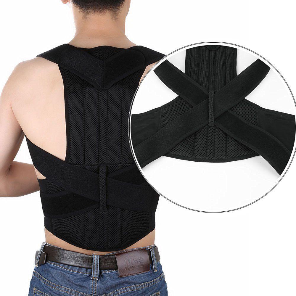 купить Men Corset Posture Corrector Back Waist Support Belt Posture Back Shoulder Belt Corrector Medical Belt Lumbar по цене 1609.5 рублей