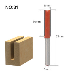 Image 5 - 1pcs 6mm Shank wood router bit Straight end mill trimmer cleaning flush trim corner round cove box bits tools Milling Cutter