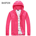 BAIFOX 2017 Spring Autumn Summer Brand Men's Women's Casual Jacket Hooded Jackets Fashion Lovers Thin Windbreaker Zipper Coats