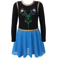 Anna Elsa Ballet Tutu Dancewear Party Skating Leotard Dress For 3 12Y 2Colors 5Sizes L XL