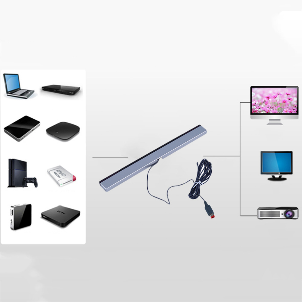 Infrared Remote Sensor : Replacement infrared tv ray wired remote sensor bar