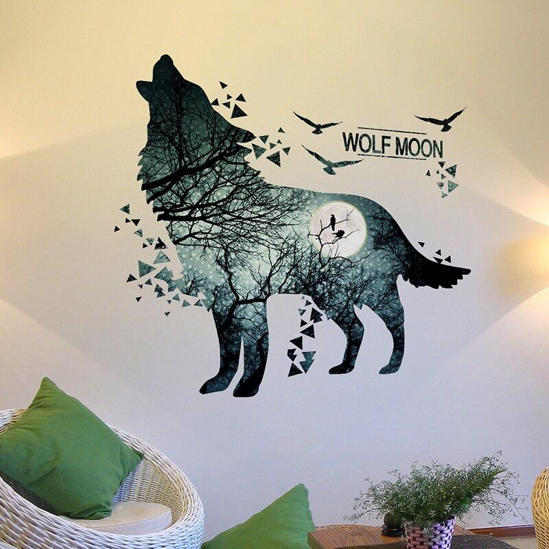Online kopen Wholesale wolf muurstickers uit China wolf