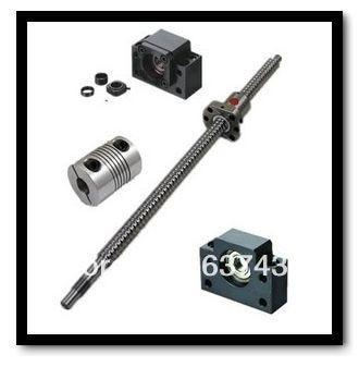 3 шт. винт RM1605 L400mm C7 + 3 шт. гайка + 3 Наборы BK/BF12 подшипник + 3 шт. 6.35*10 мм муфты