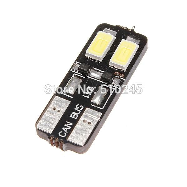 500X Car Auto LED 194 W5W 4SMD T10 4 LED SMD 5630 5730 Wedge CANBUS OBC ERROR FREE led Light Bulb Lamp White free shipping