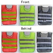 3 Цвет Светоотражающий Жилет Высочайшей Производительности Легкоатлетический пробег Высокая Степень Наглядности, Отражающей Люминесцентные Защитная Одежда Защитная Одежда