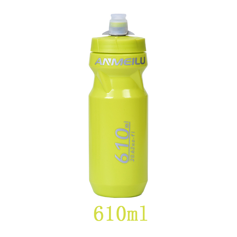 Botella de agua para bicicleta sin BPA ajustable a prueba de fugas