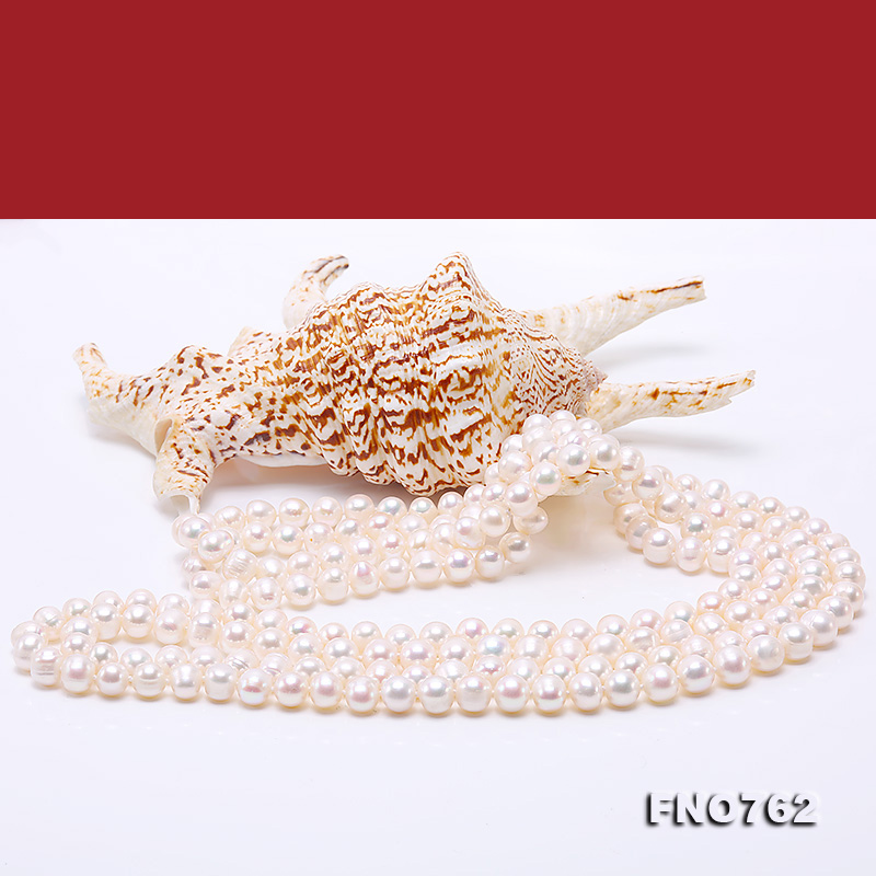 Image 5 - JYX Pearl Sweater Necklaces Long Round Natural White 8 9mm Natural Freshwater Pearl Necklace Endless charm necklace 328sale-in Necklaces from Jewelry & Accessories